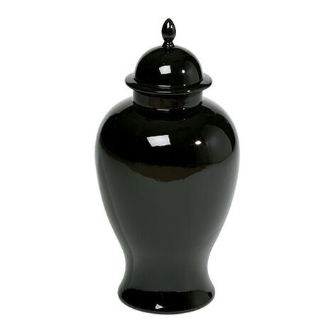 Large Black Temple Jar ,  , large