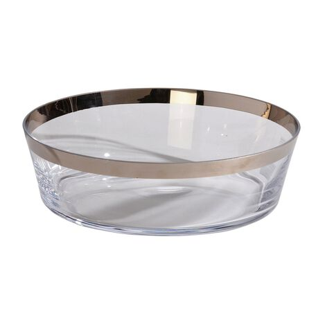 Platinum-Banded Low Bowl ,  , large