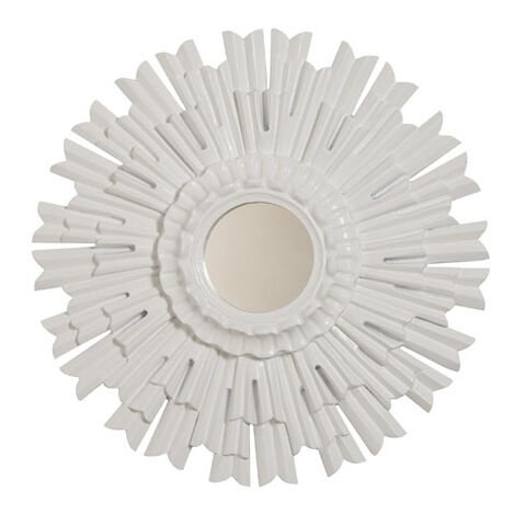 "20"" White Sunburst Mirror ,  , large"