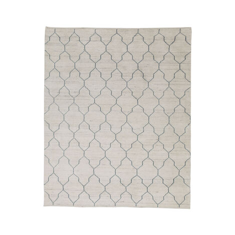 Tulu Lattice Rug, Natural/Seafoam ,  , large