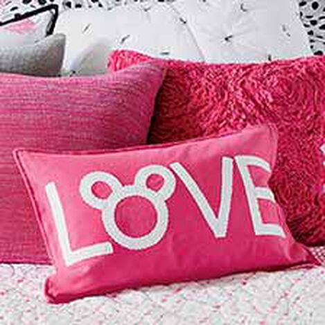 Mickey Mouse Love Pillow, Minnie Pink ,  , hover_image