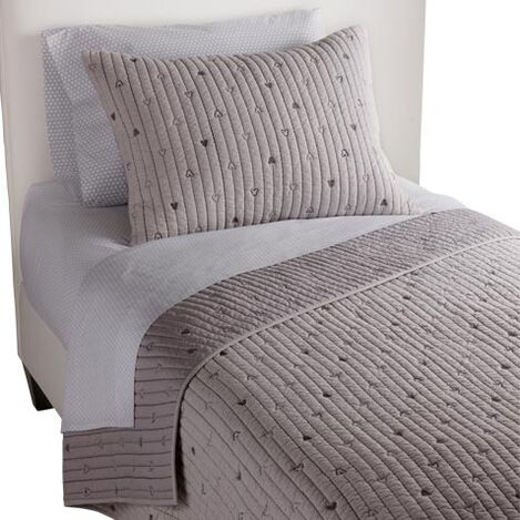 How Cool Quilt and Sham, Mouse Grey ,  , large