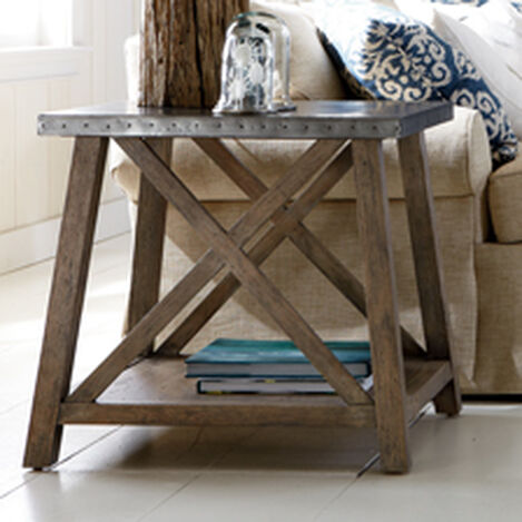 Bruckner Metal-Top End Table ,  , hover_image