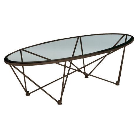 Kestral Oval Coffee Table, Vintage Steel ,  , large