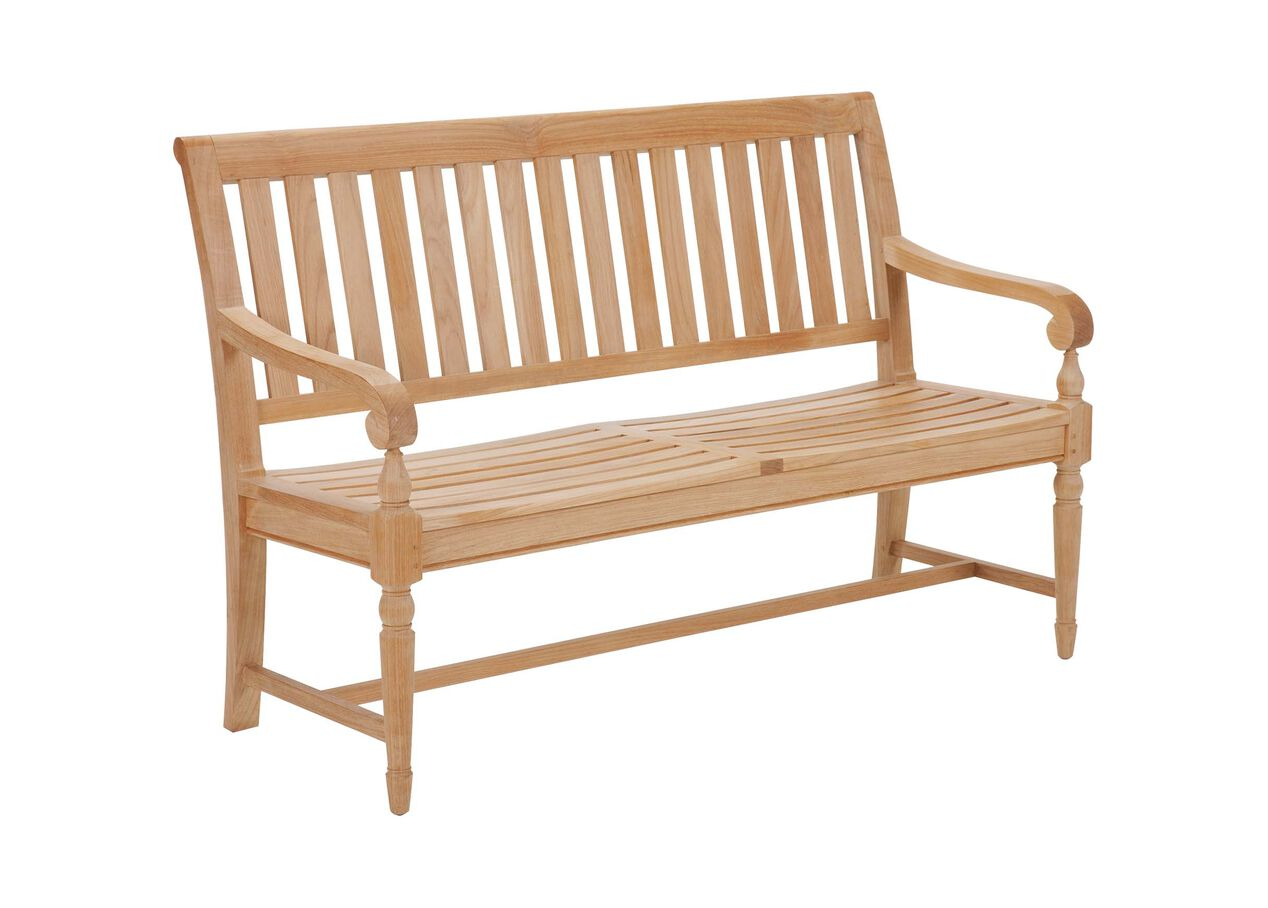 Millbrook Wood Seat Garden Bench Millbrook Collection