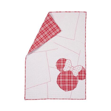 Ticking Stripe Minnie Toddler Quilt, Minnie Pink ,  , large