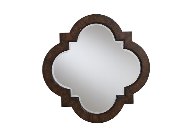 Dark Quatrefoil Mirror ,  , large_gray