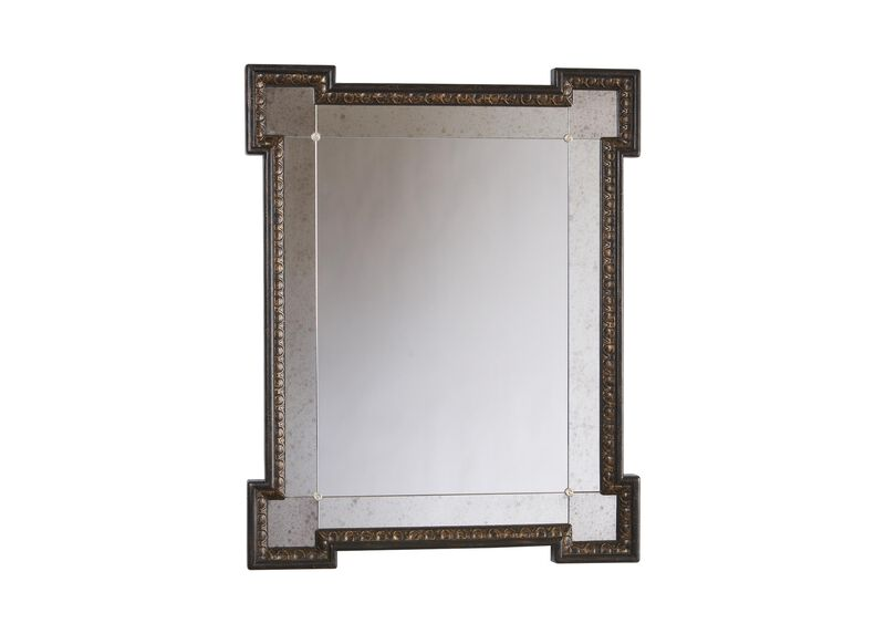 Black Crackle Turret Mirror ,  , large_gray