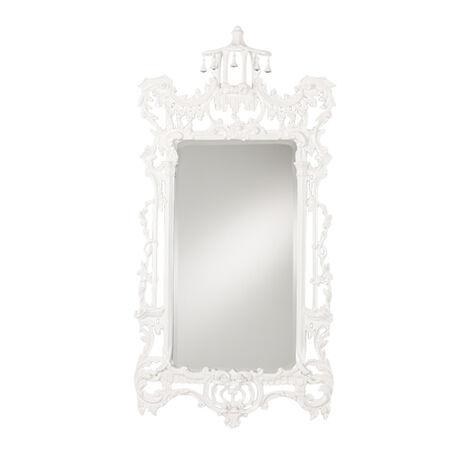Gloss White Chinoiserie Mirror ,  , large