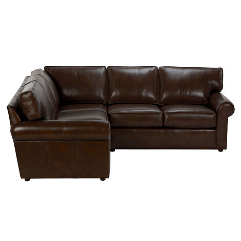Retreat Roll-Arm Leather Sectional ,  , large
