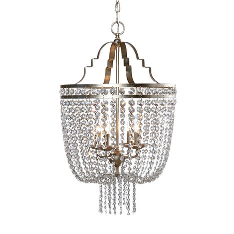 Small Alexa Antique Silver Chandelier ,  , large