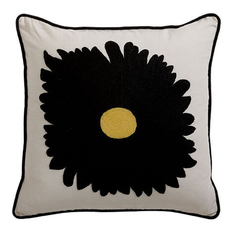 Gerbera Daisy Crewel Pillow ,  , large