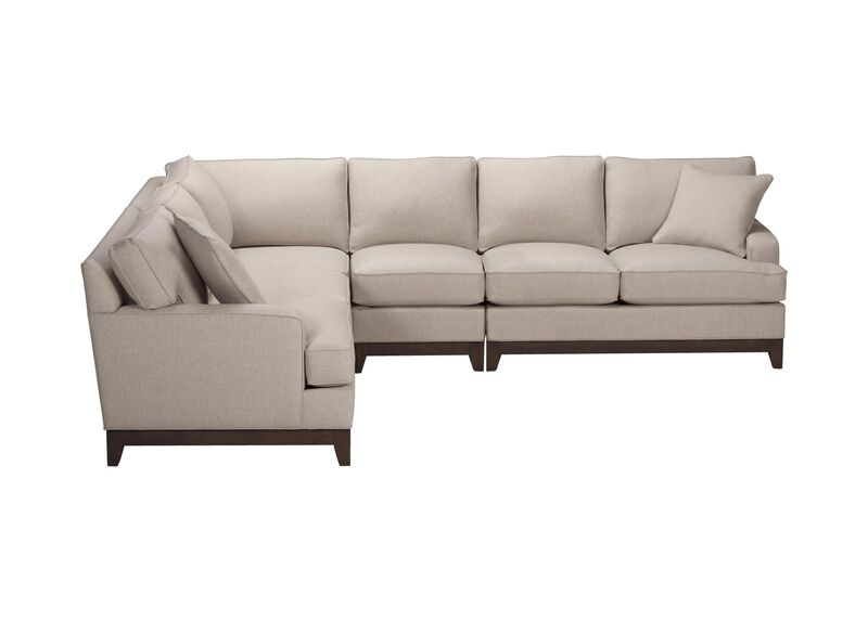 Arcata Four Piece Sectional, Quick Ship , Hailey Oatmeal (Q1033), solid texture , large_gray