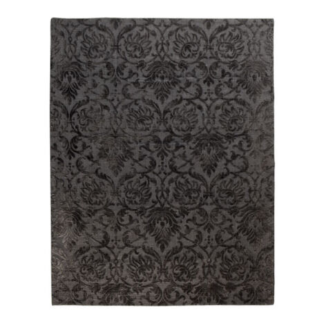Jacquard Damask Rug, Charcoal ,  , large