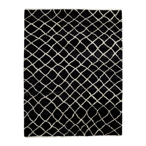Coaxial Rug, Black/Ivory ,  , large