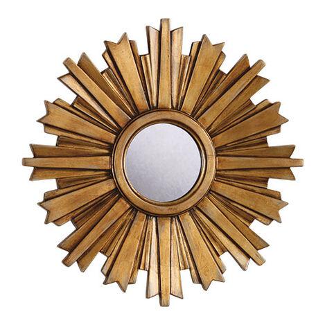 Mini-Miroir en forme d'étoile rayonnante dorée ,  , large