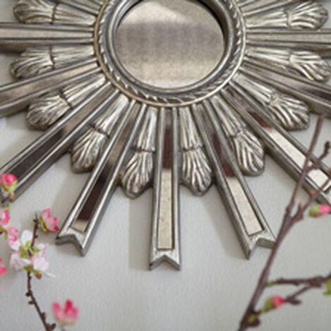 Miroir en forme d'étoile argentée 51cm ,  , hover_image