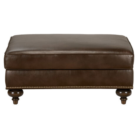 Mansfield Leather Ottoman, Quick Ship ,  , large