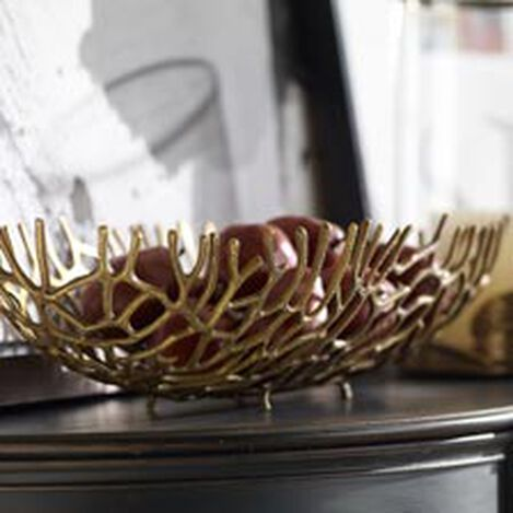 Brass Oval Coral Bowl ,  , hover_image