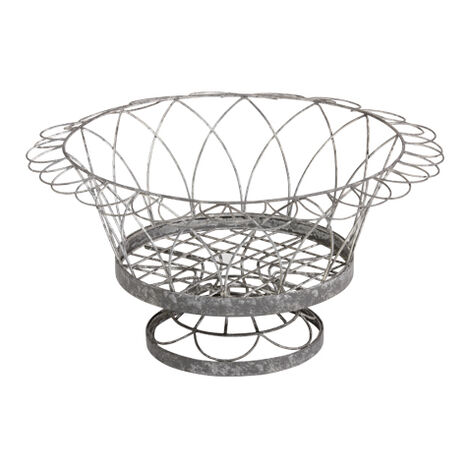 French Wire Round Planter ,  , large