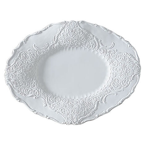 Large White Baroque Wall Plate ,  , large