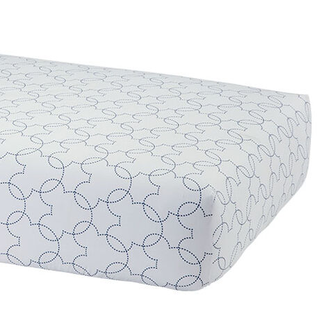 Mickey Mouse Dash Crib Sheet, Midnight ,  , large