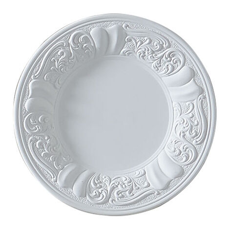 White Embossed Wall Plate ,  , large