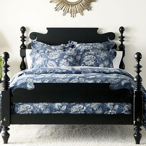 Monikka Blue Floral Duvet Cover and Shams ,  , large