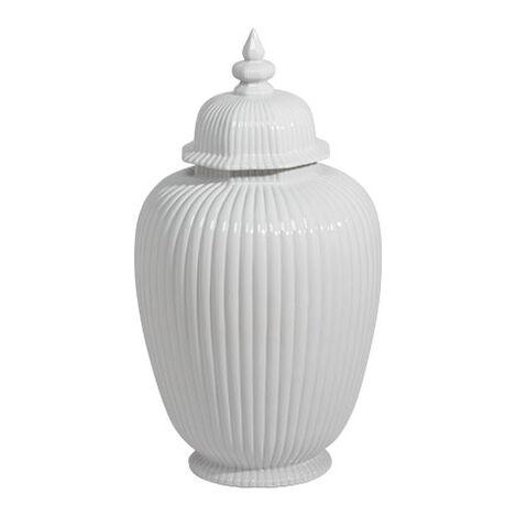 Large White Temple Jar ,  , large
