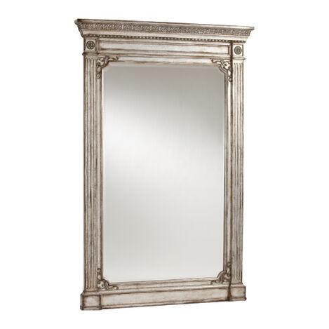 Antique Silver Madeleine Trumeau Floor Mirror ,  , large