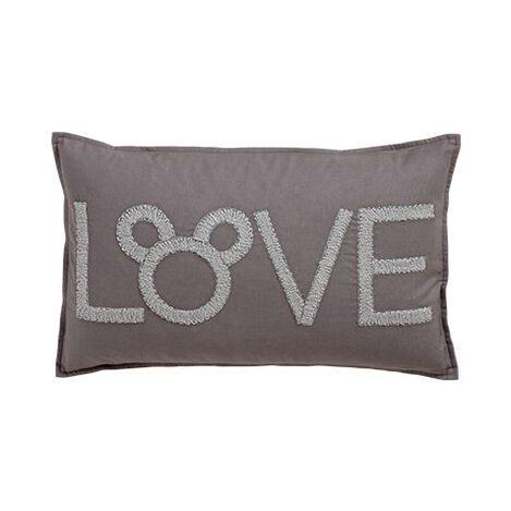 Mickey Mouse Love Pillow, Silver ,  , large