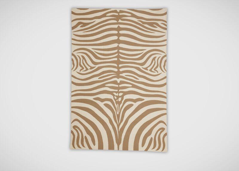 Zebra Rug, Sand/Ivory ,  , large_gray