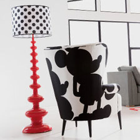 Modern Spindle Floor Lamp, Mickey's Shorts Red ,  , hover_image