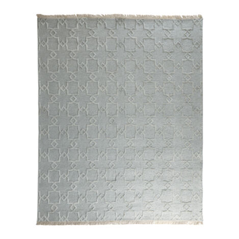 Lattice Soumak Rug, Seafoam ,  , large