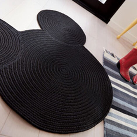 Braided Mickey Mouse Rug ,  , hover_image