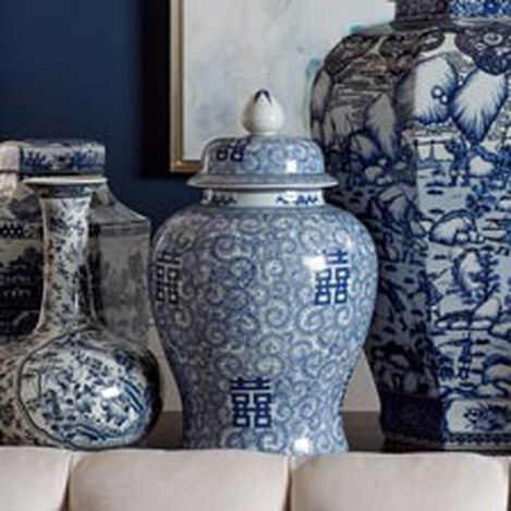 Blue and White Temple Jar ,  , hover_image