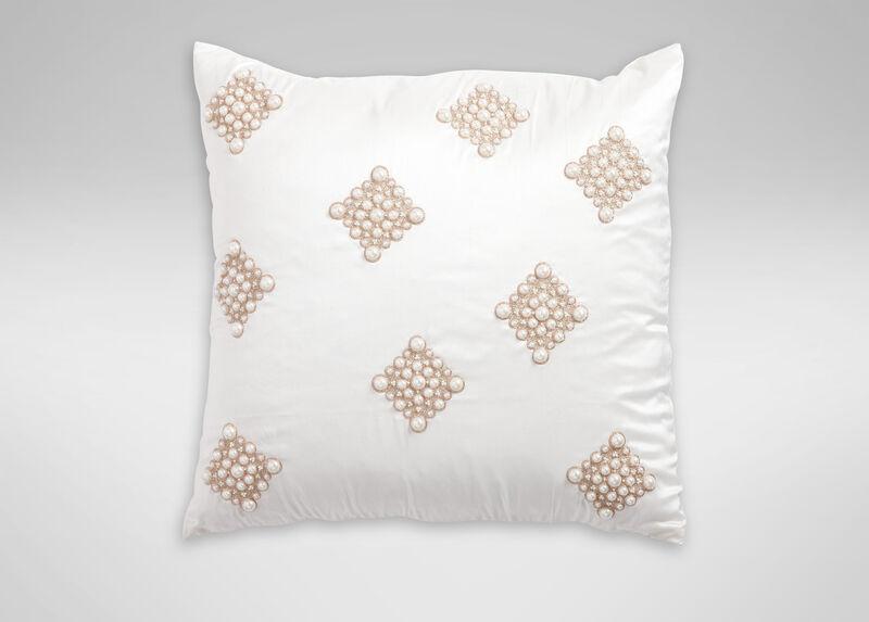 Pearl Diamond Ivory Pillow ,  , large_gray