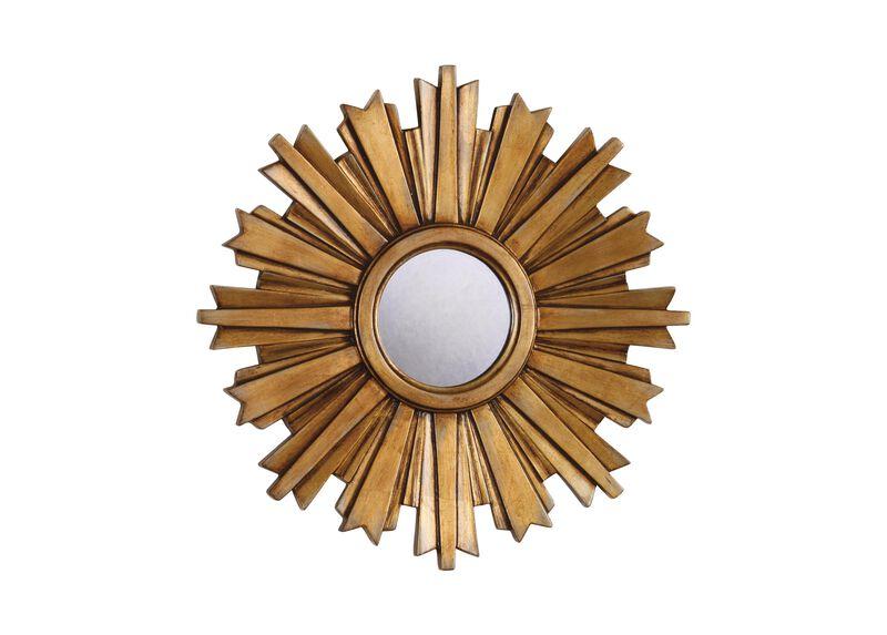 Mini Gold Starburst Mirror ,  , large_gray