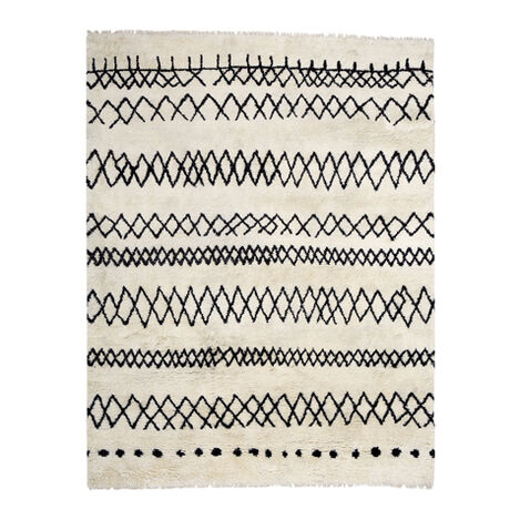 Intrinsik Rug, Ivory/Black ,  , large