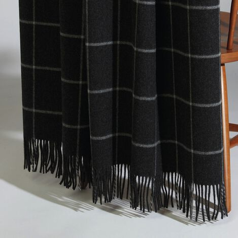 Quin Black Windowpane Throw ,  , large