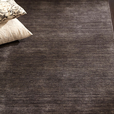 Tapis tissé en laine couleur charbon ,  , hover_image