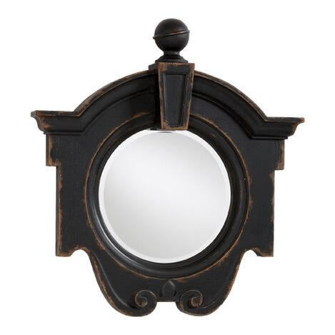 Antique Black Gisele Mirror ,  , large