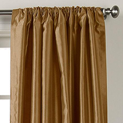Gold Leaf Satin Dupioni Rod-Pocket Panel ,  , hover_image