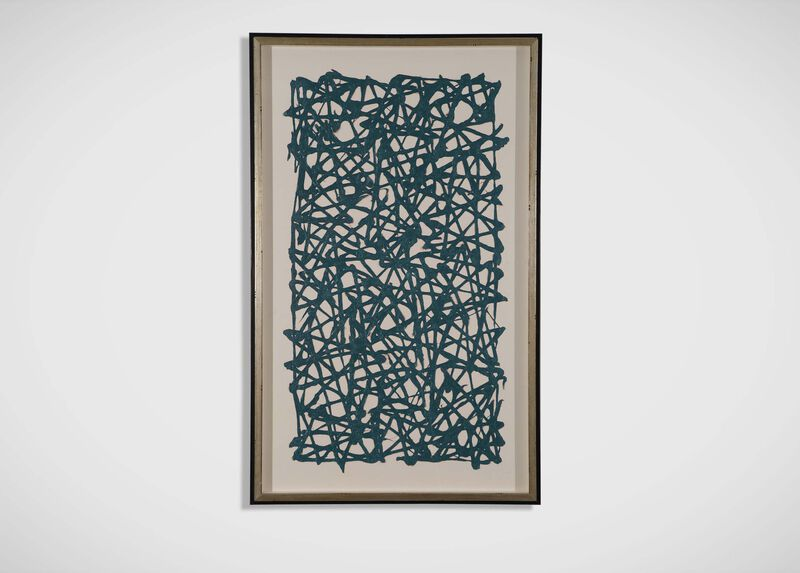 Turquoise Paper Art ,  , large_gray