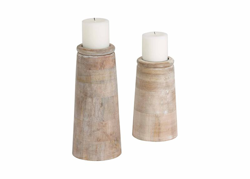 Dillon White Candleholders ,  , large_gray