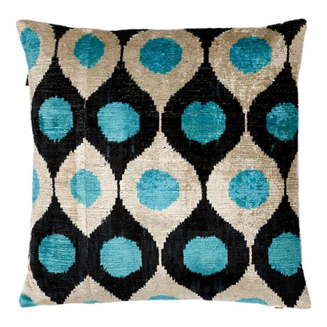 Silk Velvet Pillow, Turquoise  ,  , large
