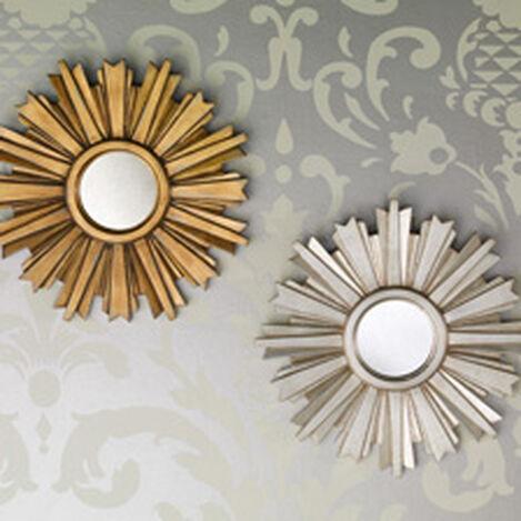 Mini-Miroir en forme d'étoile rayonnante dorée ,  , hover_image