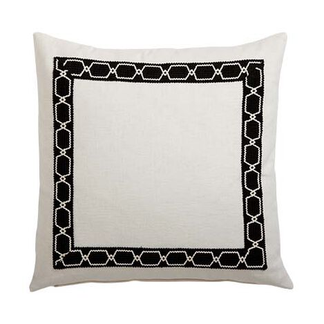 Framed Ivory Pillow, Black/Ivory ,  , large