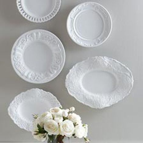 White Embossed Wall Plate ,  , hover_image