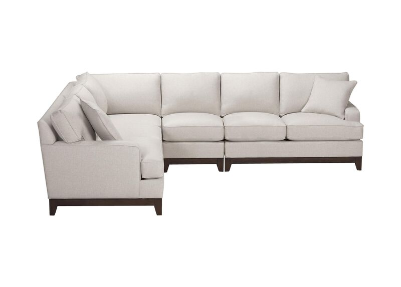 Arcata Four Piece Sectional, Quick Ship , Hailey Ivory (Q1032), solid texture , large_gray